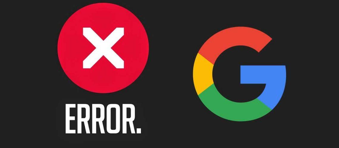 google-caida-error